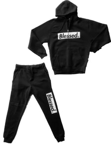 BLESSED BLACK/WHITE SWEATSUIT