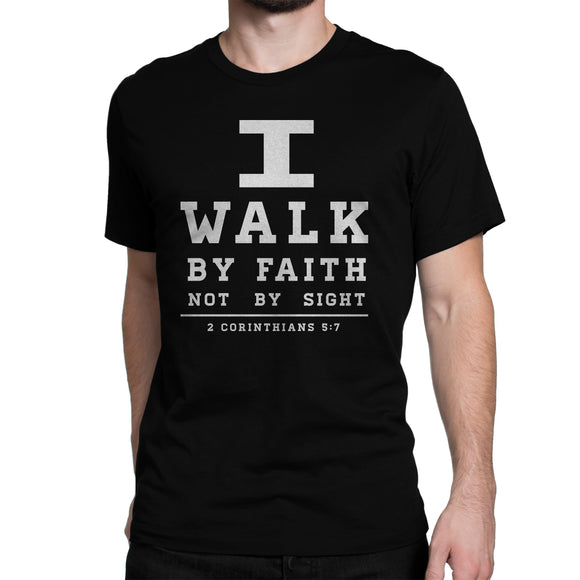 I Walk By Faith T Shirt Black/white
