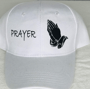 Prayer CAP White/Black