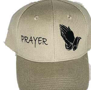 PRAYER HAT TAN /WHITE