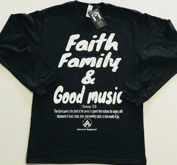 Faith Family Good Music Black/White