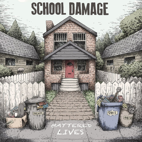 School Damage - Battered Lives LP