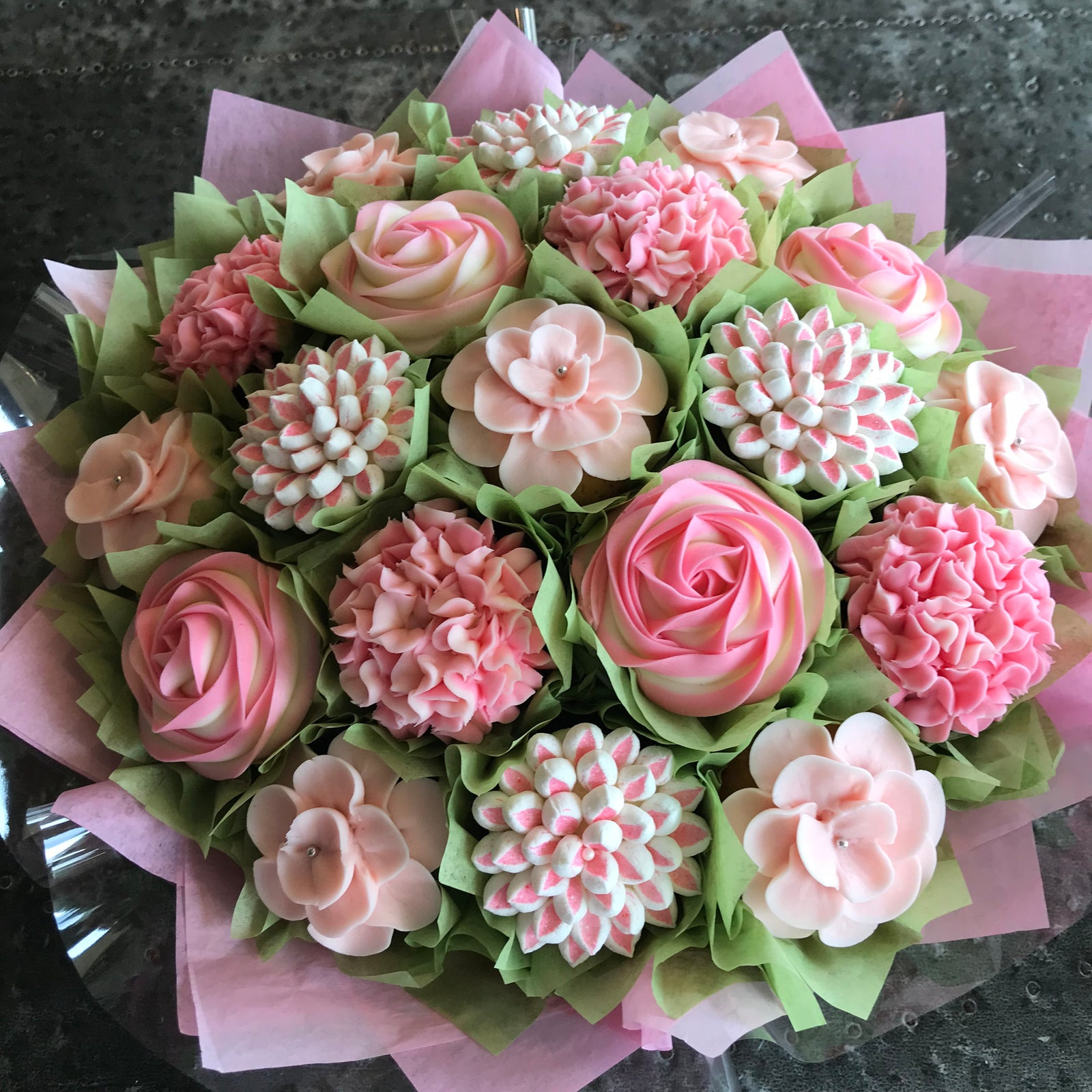 Cupcake bouquets edible floral gifts hollys cupcake bouquet 501c3 nonprofit izmirmasajfo