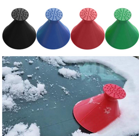 (LIMITED TIME 70% OFF )- 2 IN 1 MAGICAL CAR ICE SCRAPER & FUNNEL