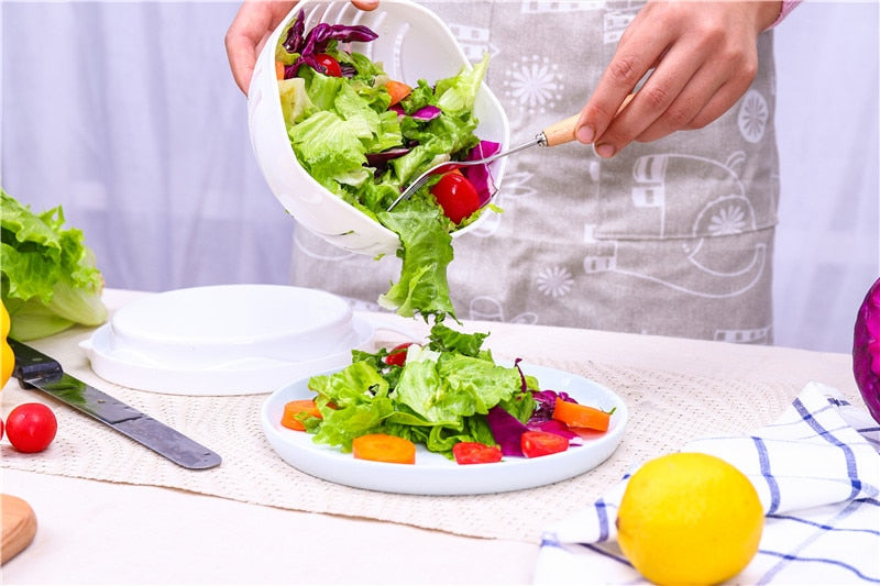 60 Second Quick Chop Salad Cutting Bowl