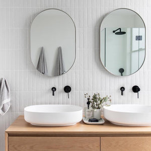 Bjorn Oval Mirror - Dove Grey