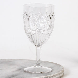 Flemington Acrylic Wine Glass - Clear - Folke & Freya