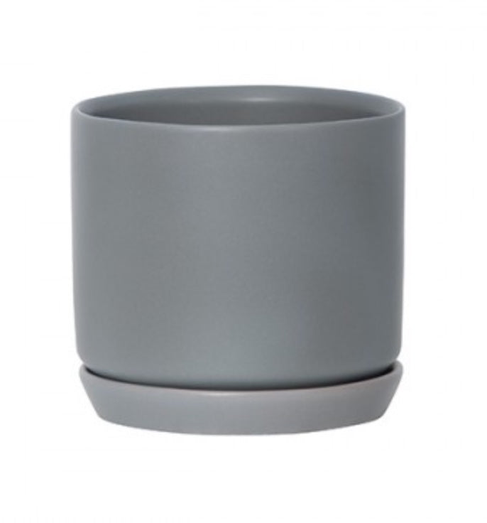 Medium Oslo Planter - Grey Fog - Folke & Freya