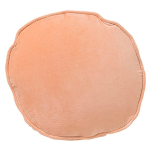Apricot Velvet Pea Cushion