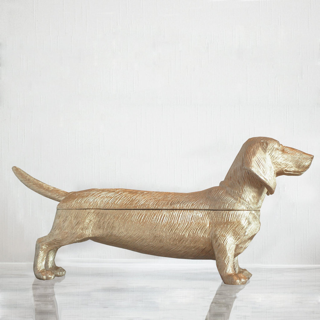 Dachshund Secret Bowl - Gold - Folke & Freya