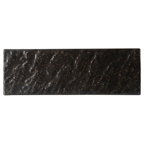 Black Gold Crystal 36cm Rectangular Plate (360×120x13mm) KY7089-03