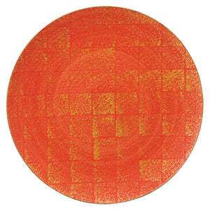 KOBARUTO Gold Red 28cm Round Plate KY7091-03 (283x19mm)