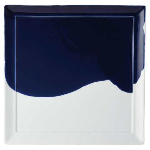 Shade Blue 27cm Square Plate (265x265×13mm) KY7009-01