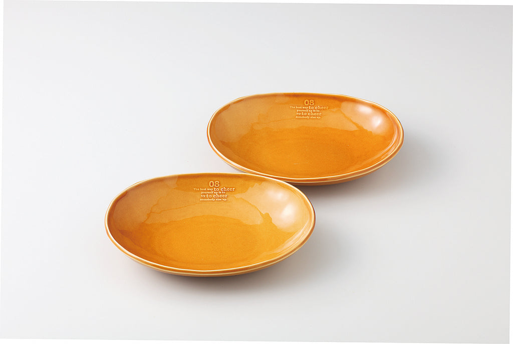 Multi Bowl Oval L  Pair   The best way to cheer yourself 59-53-24