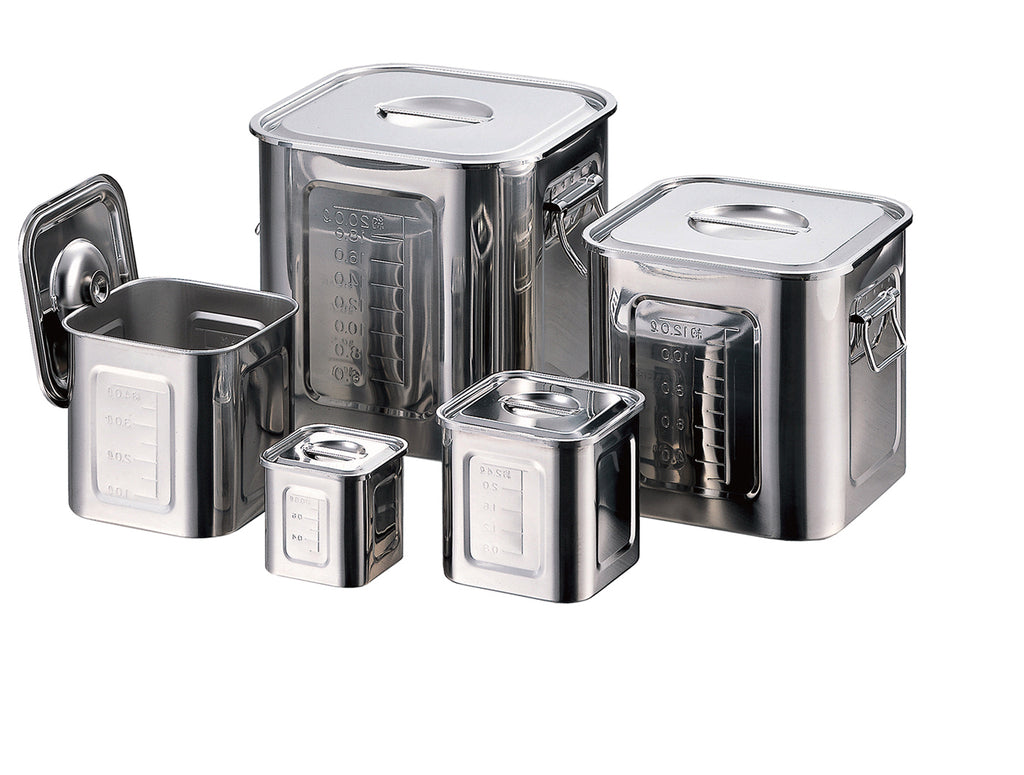 18-8 Stainless square kitchen pot 16.5cm