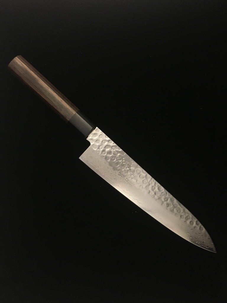 Sakai Kikumori 45-Layer Damascus Hammered WA-Gyuto (Chef's knife) 210mm