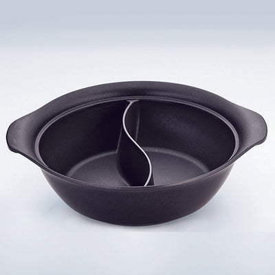 IH UK Aluminium Hot Pot with Divider (2 Compartment) 27cm