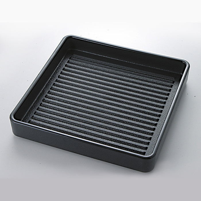 Plastic Square Dish for Meat (Stacking Type)  1 Person
