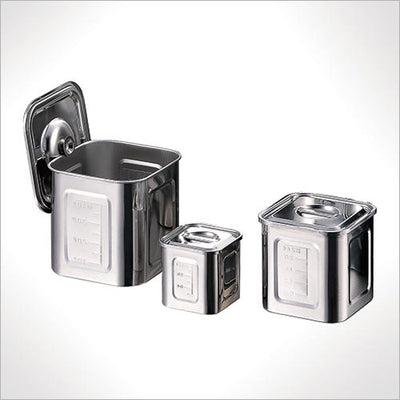 Stainless Kitchen Pot Square 15cm