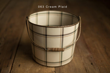 Bucket Hugger | Cream Plaid 063