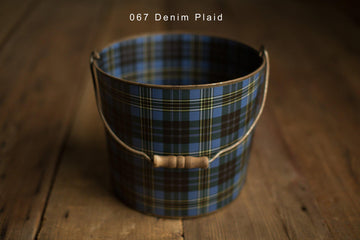 Bucket Hugger | Denim Plaid 067