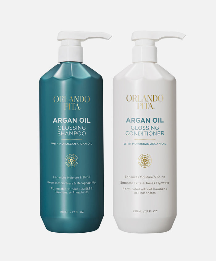 Argan Oil Glossing Shampoo & Conditioner Set - Default Title