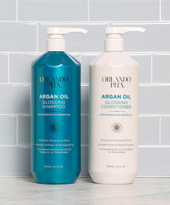 Argan Oil Glossing Shampoo & Conditioner Set