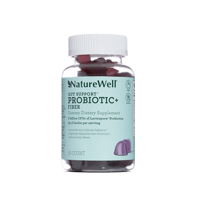 Probiotic + Fiber Gummy Dietary Supplement - Default Title