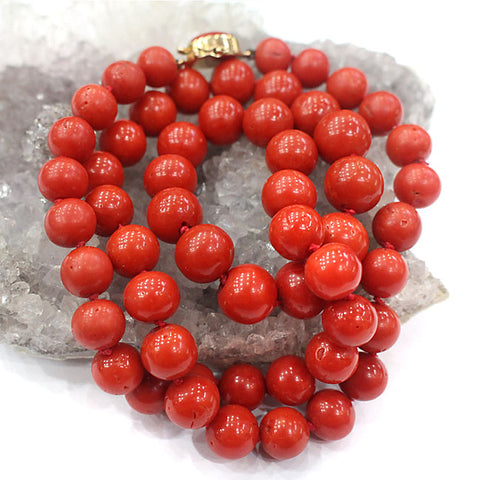 Old Coral Beads