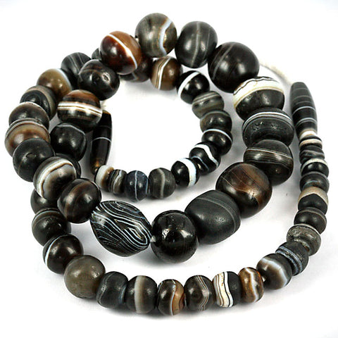 Old Stone Bead Strands