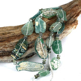 Reworked Old Glass Beads High Patina