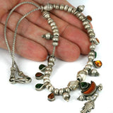 Tribal Old Silver Pendant Necklace