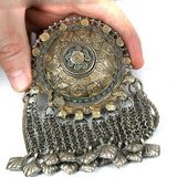 Tribal Old Silver Gold Wash Plate