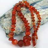 Indus Valley Old Carnelian Bead Strand