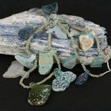 Recovered & Reworked Old Glass Pendants