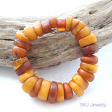 Real Old Amber Trade Beads Bracelet