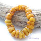 Real Antique Amber Trade Beads Bracelet