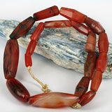 Large African Traded Old Agate Stone Bead Strand