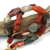 African Traded Old Agate Stone Bead Strand