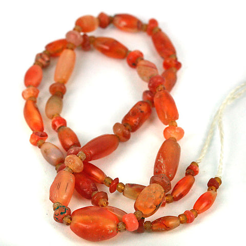 Indus Valley Very Old Carnelian Bead Strand.