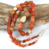 Very Old Carnelian Bead Strand.