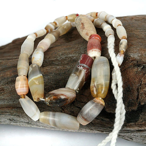 Very Old Agate Bead Strand.