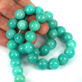 Natural Peruvian Amazonite 11.80mm Gemstone Beads 15 Inch Str.