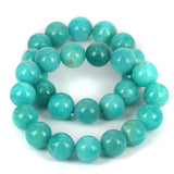 Natural Amazonite 12mm Gemstone Beads Bracelet