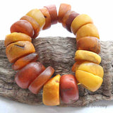 Old - Antique African Traded Amber Beads