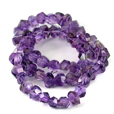 Purple Amethyst Gemstone Bead Bracelet