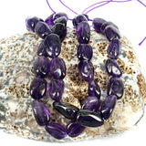 Purple Amethyst Gemstone Beads - Wild Nugget Bead Shape