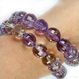 Amethyst Ametrine Gemstone Bead Bracelet - High Grade 10mm