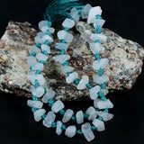 Natural Aquamarine Rough Crystal Gemstone Beads