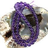 African Purple Amethyst 6mm Gemstone Beads